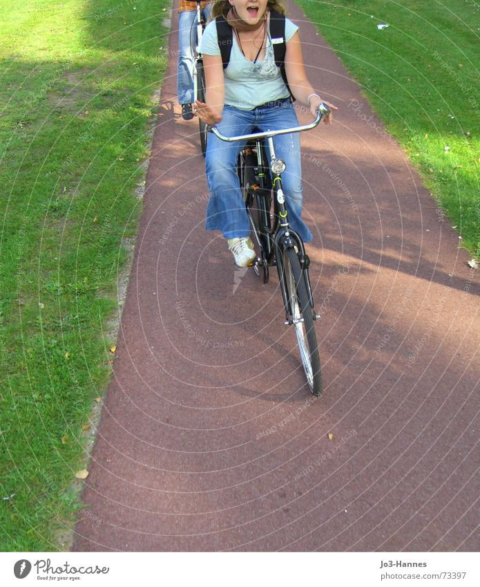 Freedom on the road Cycling Cycling tour Bicycle Tar Meadow Flexible Summer Debauched Vacation & Travel Cycle path Driving Netherlands Amsterdam Forwards