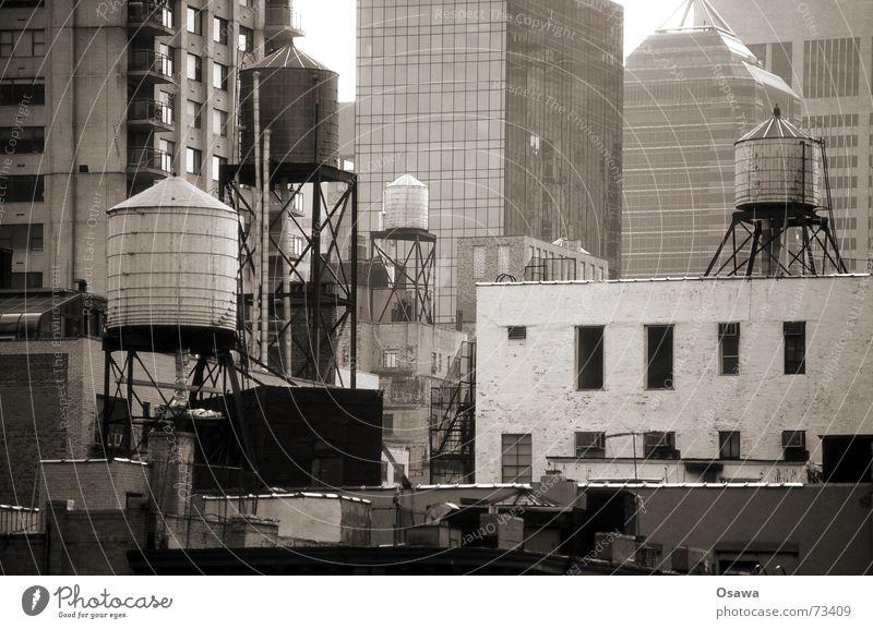Building Arrangement Chaos New York City Water tank