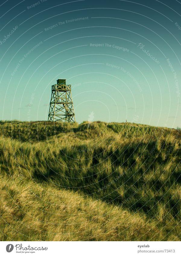 Sky Green Blue Far-off places Grass Wood Building Vantage point Tower War Beach dune Wood flour Watch tower
