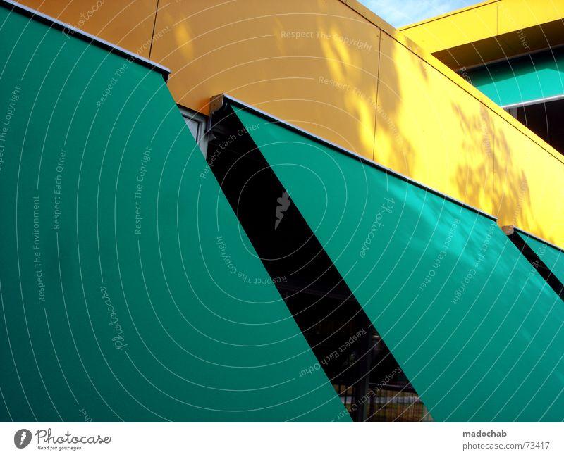 BEWARE OF THE SUN | sun protection sun deck yellow turquoise cyan Sunshield Sunshade Sun deck Turquoise Yellow sun hood Statue all plastic