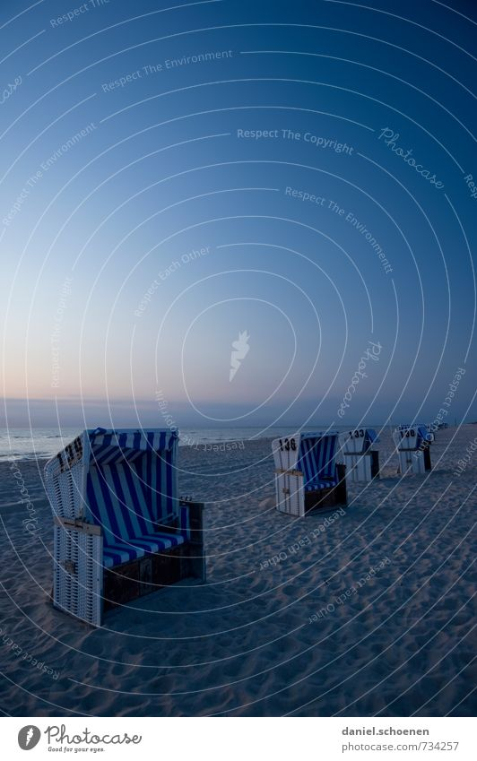 blue on Sylt Relaxation Calm Vacation & Travel Tourism Summer Summer vacation Beach Ocean Island Cloudless sky Beautiful weather Coast North Sea Blue Horizon