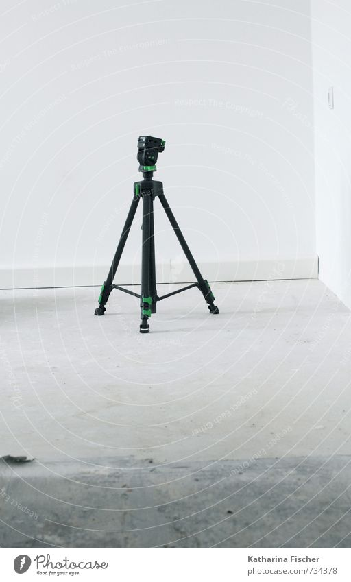 waiting for action Technology Stand Gray Green Black White Tripod Photography set accessories photo accessories Equipment Room Floor covering photo equipment