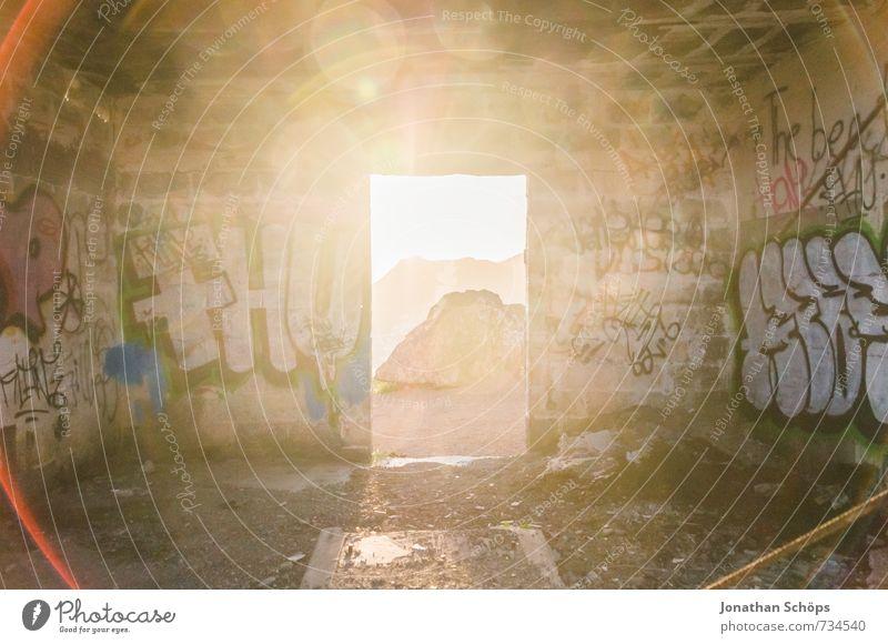 Vacation & Travel Heaven Mountain Graffiti Wall (barrier) Happy Religion and faith Rock Door Island Adventure Hope Ruin God Phenomenon Flashy