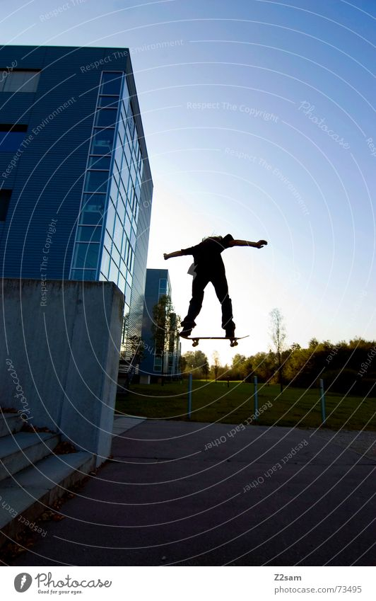 Style Sports Wall (barrier) Lifestyle Flying Jump Stairs Skateboarding Downward Trick Funsport Stunt Parking level Air
