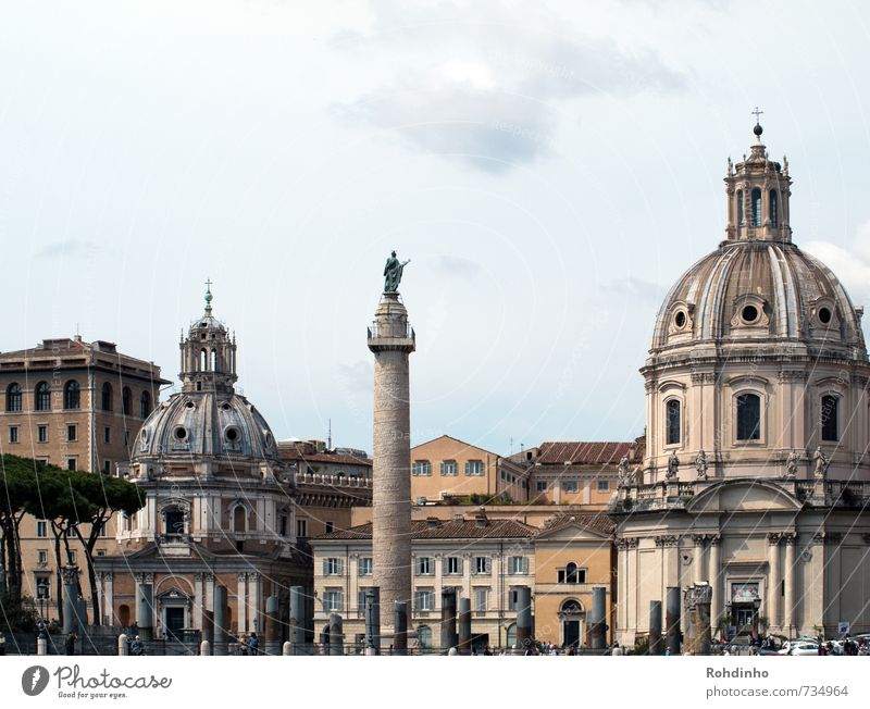 ROMA - Domes & Columns Vacation & Travel Tourism Trip Sightseeing City trip Architecture Rome Italy Europe Town Capital city Downtown Old town Skyline