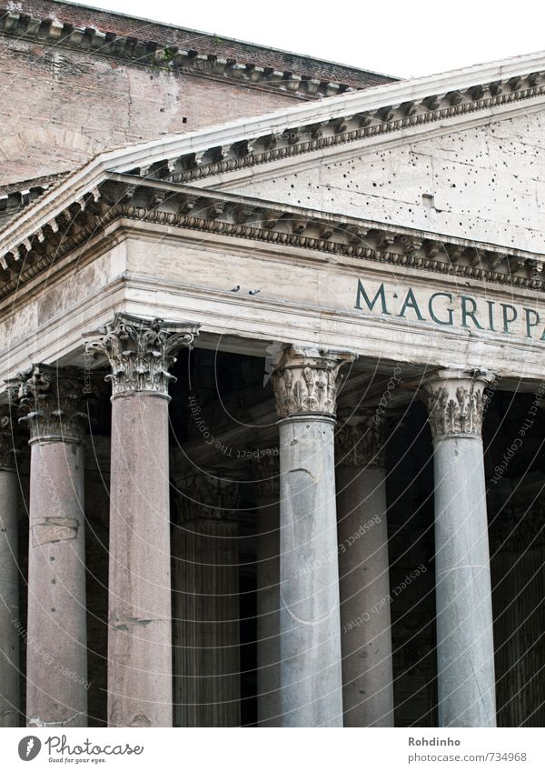 ROMA - Pantheon Architecture Culture Rome Italy Europe Town Capital city Downtown Old town House (Residential Structure) Palace Castle Manmade structures