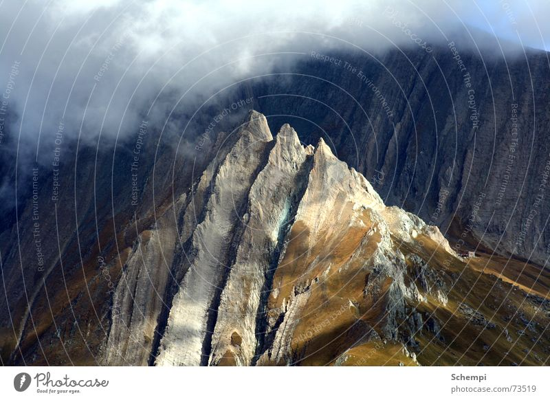 Clouds Mountain Stone Alps Peak Mountaineering Federal State of Tyrol Climbing