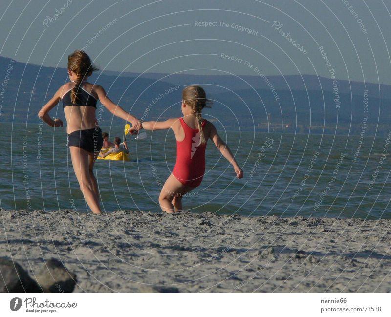 Water Girl Summer Joy Vacation & Travel Sand Coast Swimming & Bathing Lake Balaton