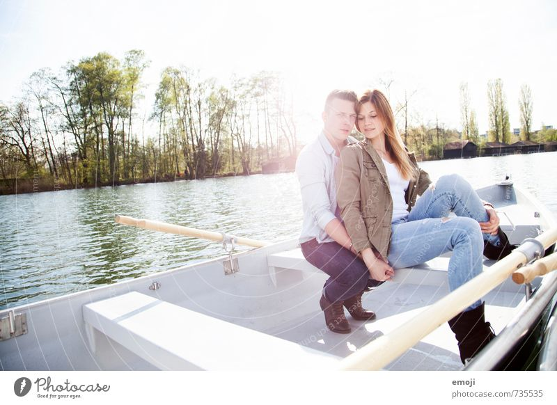 Human being Nature Youth (Young adults) Young woman Landscape 18 - 30 years Young man Adults Environment Love Feminine Spring Natural Lake Couple