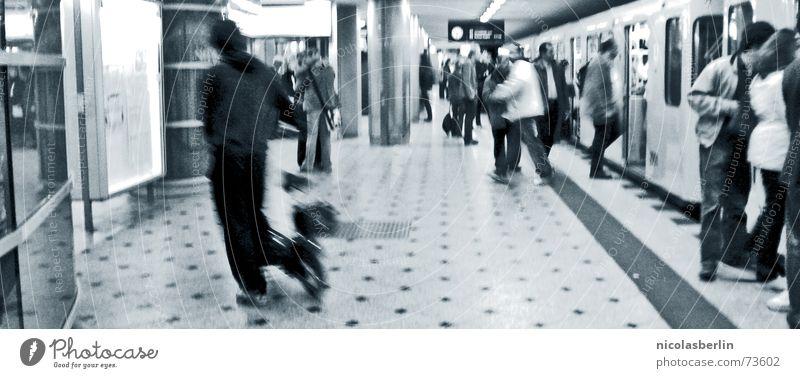Human being White Black Movement Modern Longing Underground Train station Goodbye London London Underground Arrival England