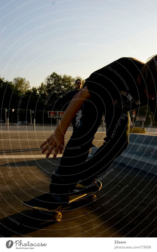 Sports Jump Style Stairs Action Skateboarding Dynamics Salto Trick Funsport Parking level Stunt Kickflip