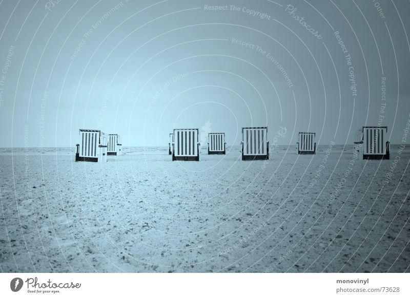 beach chair herd Beach chair Warnemünde September Mecklenburg-Western Pomerania Baltic Sea summer is gone hro