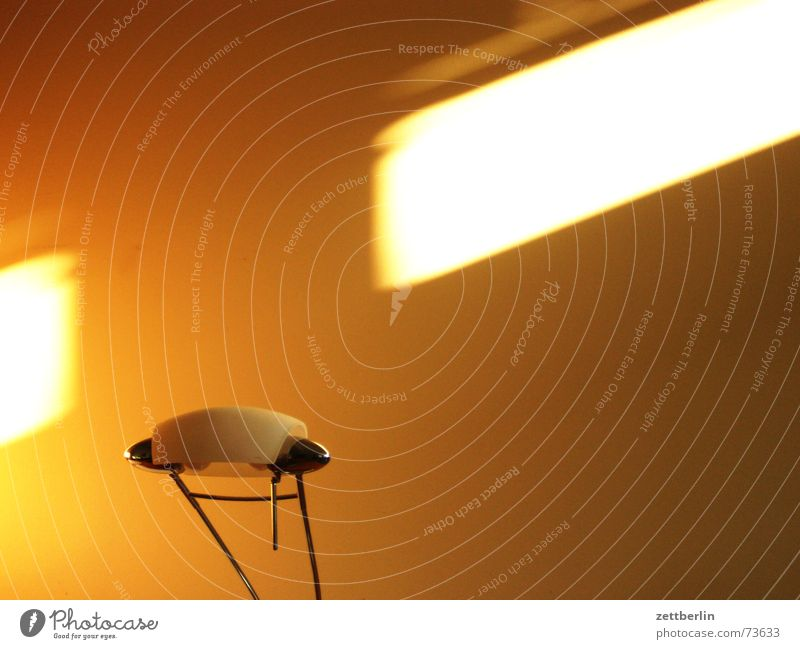 Lamp and light Light Streak of light Sunrise Morning Desk has gold in his mouth