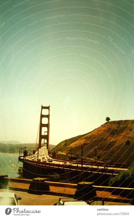 Red Transport Bridge USA Steel California San Francisco Golden Gate Bridge