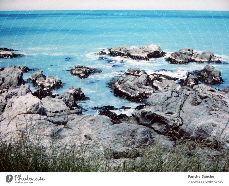 Ocean Blue Landscape Coast Island Turquoise New Zealand Gorgeous