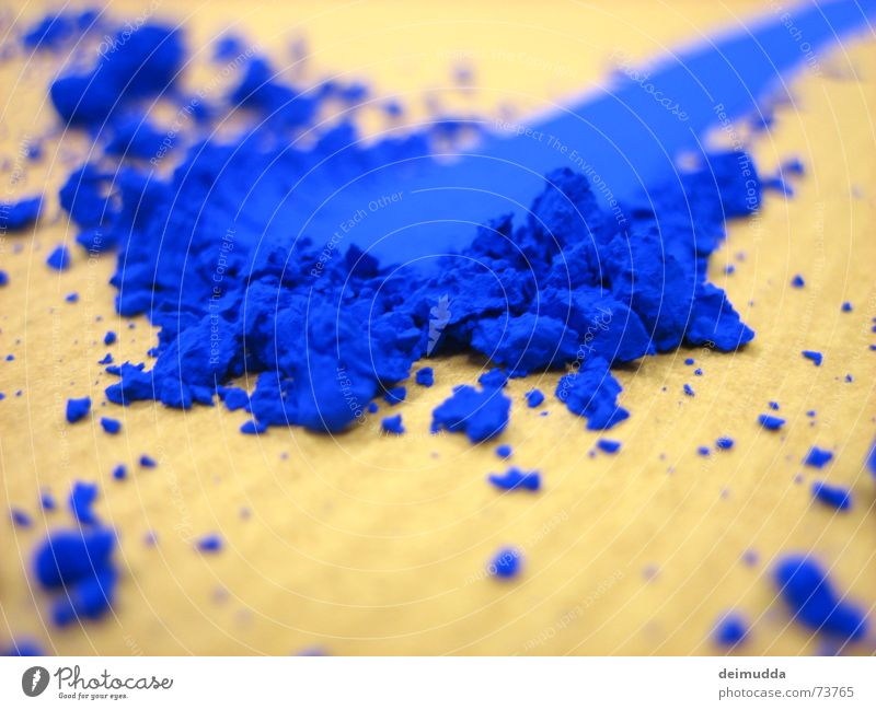 Blue Colour Art Painting (action, work) Dust Colorant Unnatural