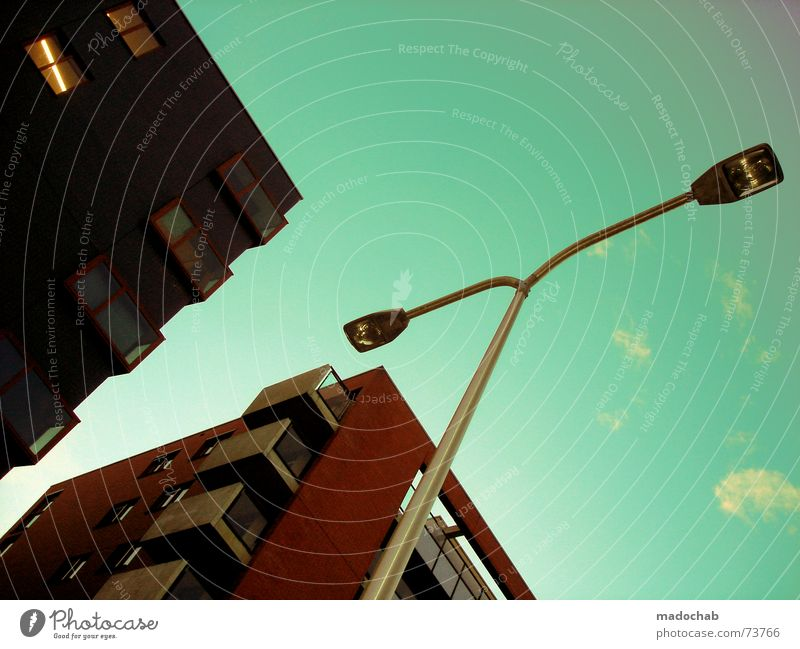 Sky City Blue Clouds House (Residential Structure) Window Life Architecture Building Freedom Flying Lamp Above Work and employment Flat (apartment) Design