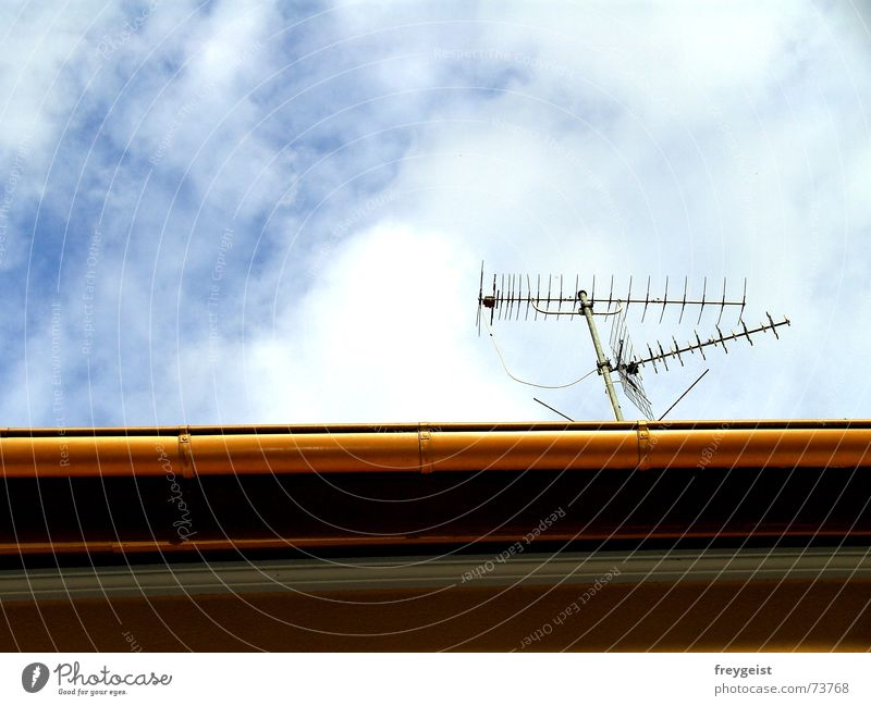 connected Antenna Radio technology Connection Sky Roof Broacaster Transmit Waves Eaves Welcome Line