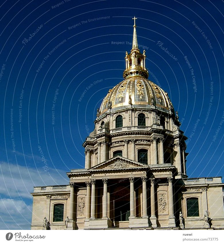Dôme des Invalides Summer House (Residential Structure) Construction site Sky Clouds Paris France Europe Capital city Dome Manmade structures Building