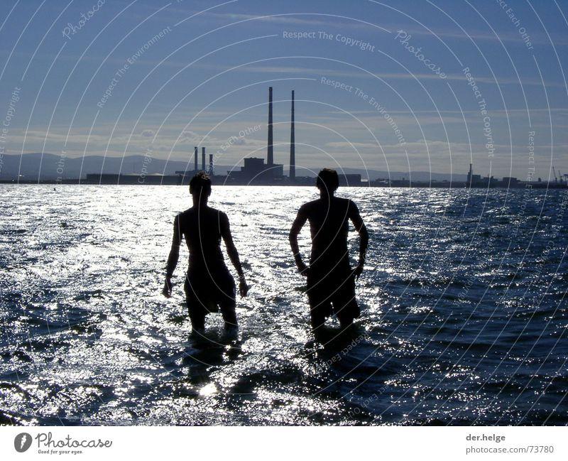 dubbidub Dublin Ocean Waterway Man Friendship Future Coincidence Release Industrial Photography shallow water Silhouette Freedom