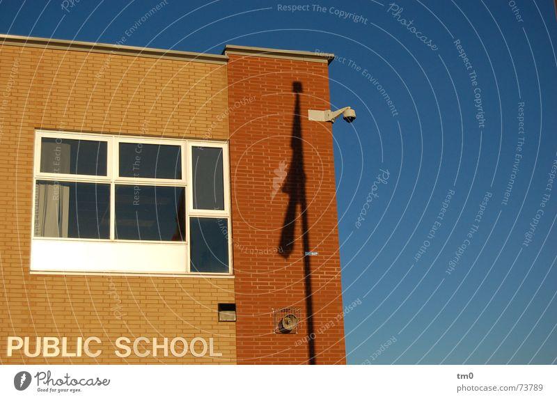 heat-free Canada Toronto Window Building School public school Blue Beautiful weather Shadow School building