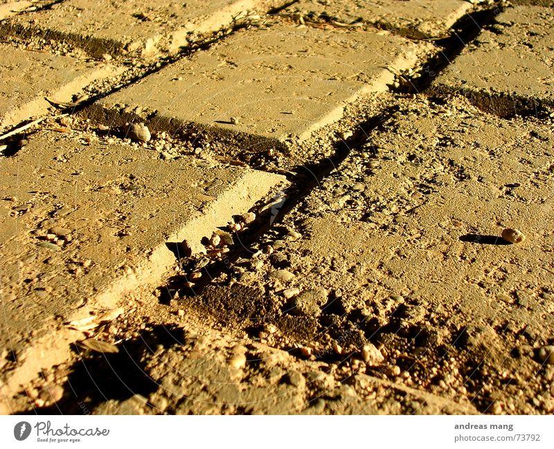 Old Dirty Floor covering Crack & Rip & Tear Prefab construction Seam Paving tiles