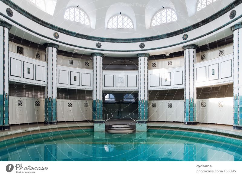 Beautiful Water Loneliness Relaxation Calm Senior citizen Architecture Building Swimming & Bathing Time Healthy Dream Elegant Design Idyll Transience