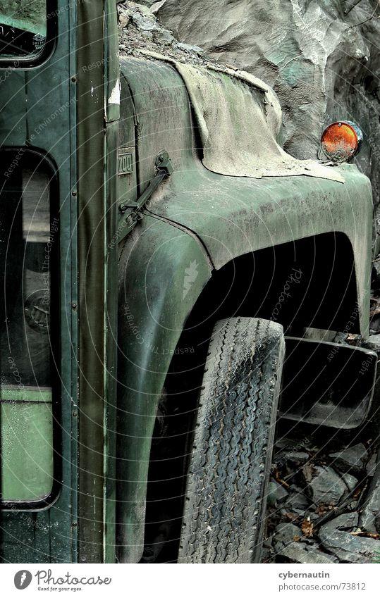 Old Broken Derelict Bus Forget Means of transport Mining Breakdown Quarry