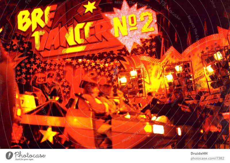 Red Yellow Party Club Fairs & Carnivals Neon light Bremen Showman