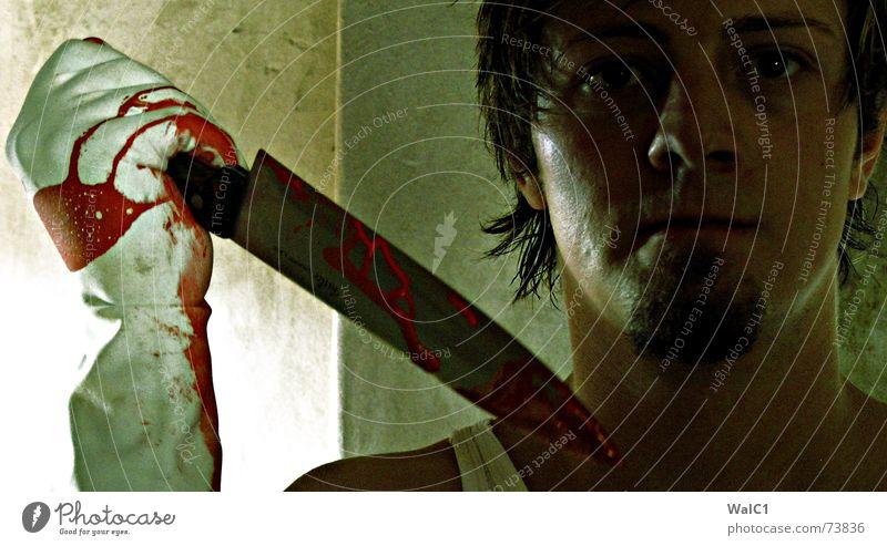 Man Face Death Facial hair Blood Knives Gloves Murder Assassin Perpetrator