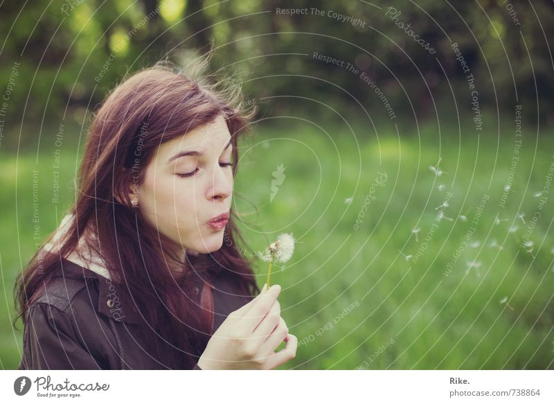 Human being Nature Youth (Young adults) Beautiful Young woman Flower Joy 18 - 30 years Adults Life Meadow Feminine Natural Happy Time Healthy