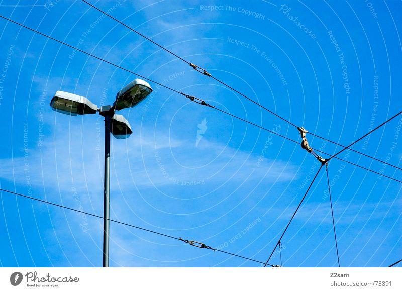 Sky Blue Summer Lamp Line Rope Net Lantern Direction Transmission lines Tram Overhead line Compass point