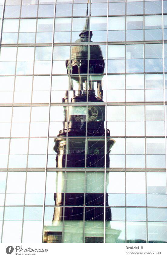 Religion and faith Architecture Hamburg Tower Mirror St. Michael's Church