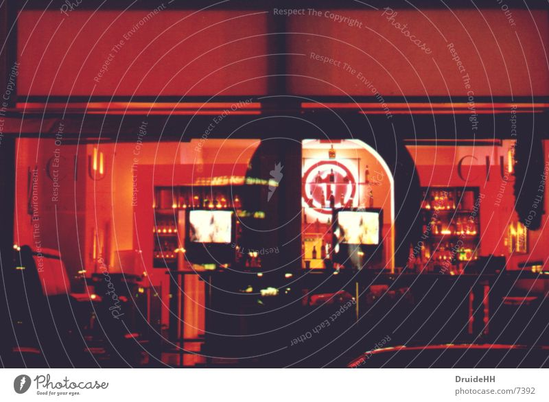red location Red Bar View from a window Light Long exposure Hamburg