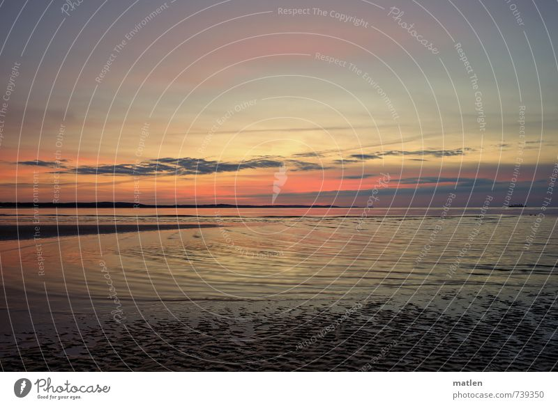 Blue Water Red Landscape Beach Yellow Coast Spring Horizon Weather Waves Gold Beautiful weather Baltic Sea Enchanting Night sky