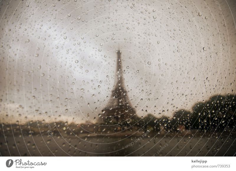 Vacation & Travel City Clouds Love Building Car Window Tourism Tower Drop Regen County Manmade structures River bank Monument France Paris Landmark