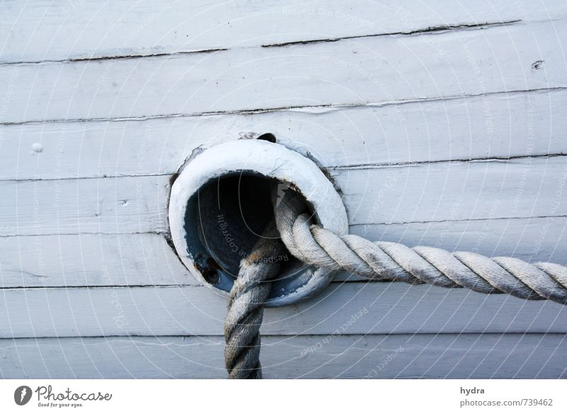 hawse Vacation & Travel Boating trip Sailing trip Rope Navigation Yacht Sailboat Sailing ship Plank Hull Ship's side Wood Line To hold on Old Firm Maritime Blue