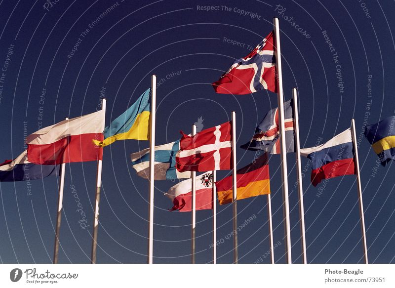 Flag in the wind VI Flagpole Scandinavia Northern Europe Eastern Europe Norway Finland Ukraine Beautiful weather Denmark Sky Congress center Administration