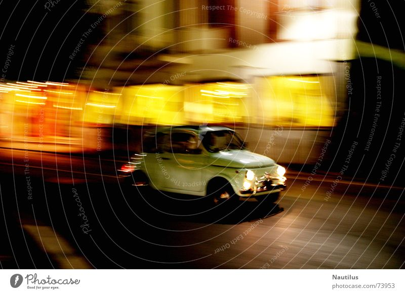 The Italian Way Italy Transport Road traffic Long exposure fiat 500 Blur Car small car washed