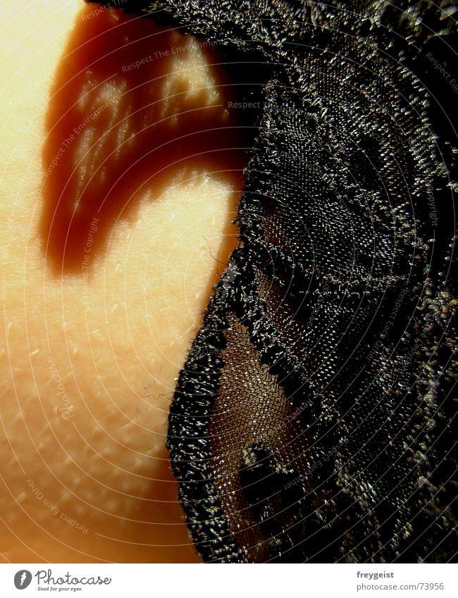 lace collection Cloth Border Underwear Black Light Gooseflesh Point Skin Low neckline Chest Breasts breast Shadow sun shaddow