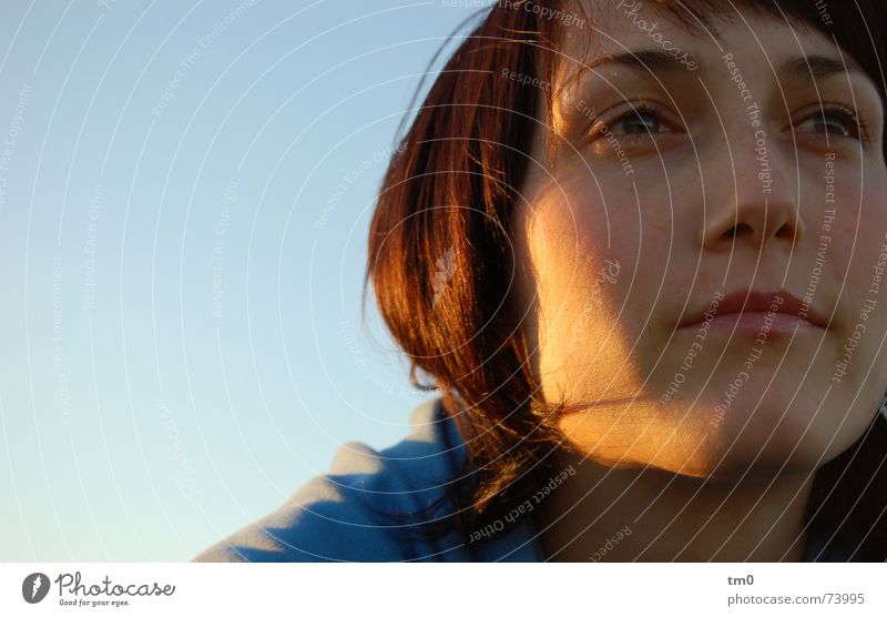 Woman Sky Blue Beautiful Sun Emotions Think Dream Lighting Hope Romance Desire Ask Know Carriage