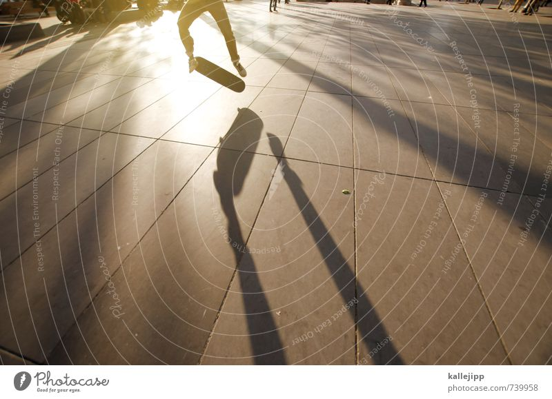 workout Sports Human being Masculine Man Adults Legs 1 13 - 18 years Child Youth (Young adults) Town Jump Back-light Skateboarding Trick Shadow Paris Subculture