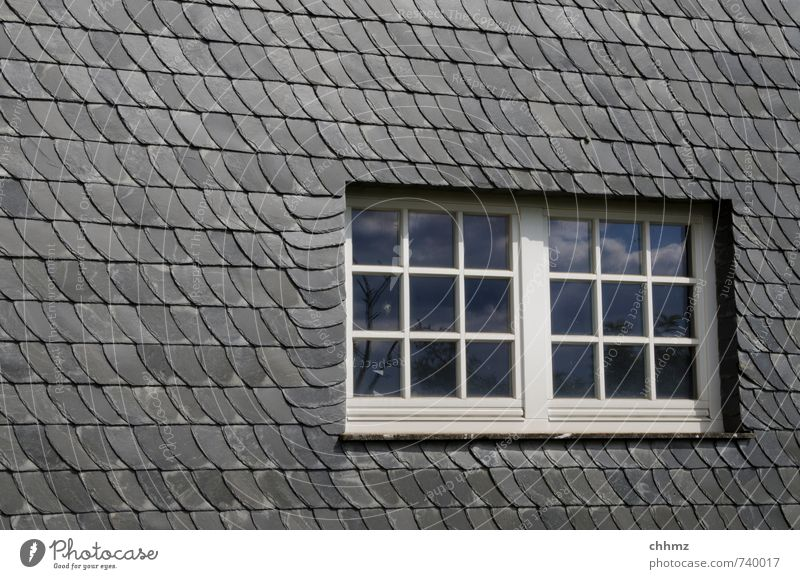 slate window Craft (trade) Construction site House (Residential Structure) Wall (barrier) Wall (building) Window Stone Wood Glass Gray Black White Slate Facade