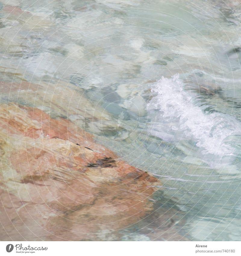 marbled Water Rock Brook Mountain stream Fluid Fresh Wet Natural Blue Pink Power Movement Energy Speed Vociferous Hissing Roar Flow Splashing Marble Pale blue