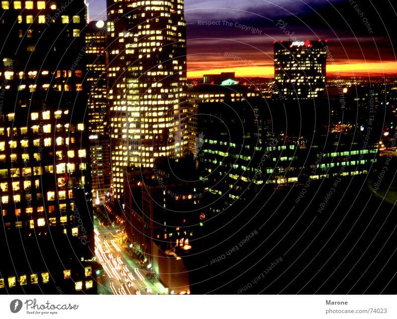 City Lighting High-rise USA Americas Traffic infrastructure Night Dusk Night life Closing time Los Angeles Sea of light