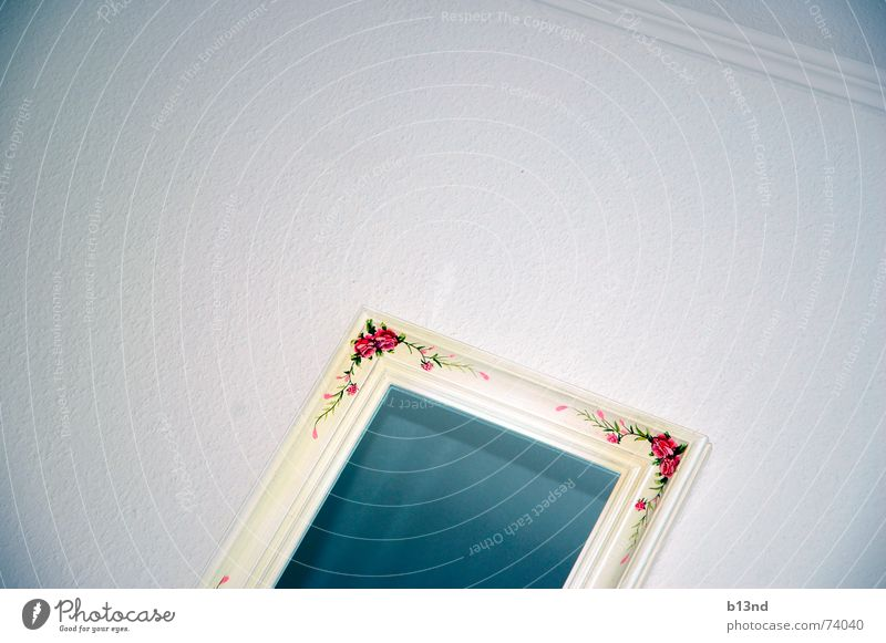 Mirror, mirror ... Ornament Wall (building) White Red Green Sterile Cold reflective surface Blue