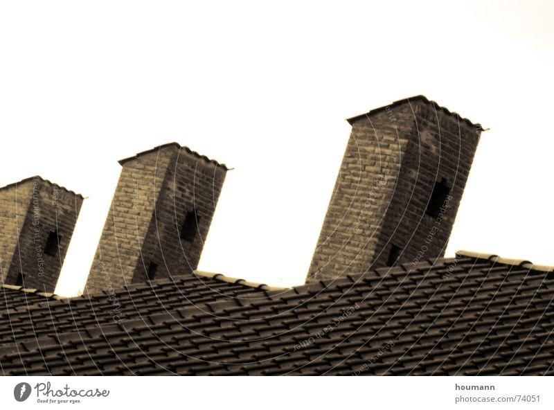 Old Brown Corner Roof Tower Tilt Brick Chimney Old building Fireside Parallel Ochre Tiled roof