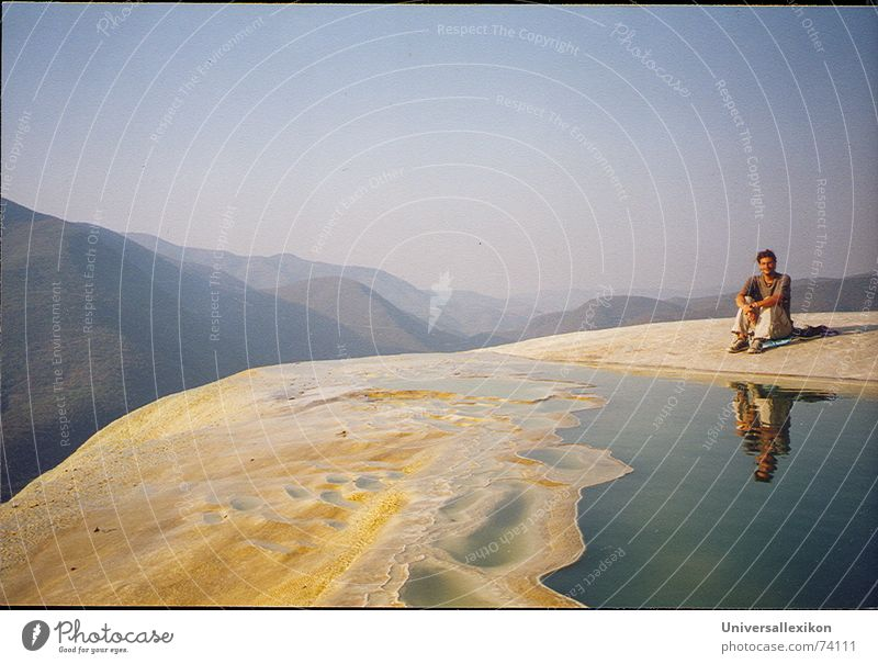 Hierve el Agua/Mexico Loneliness Calm Mirror image Far-off places Mountain hierve el agua Waterfall Sky expansiveness