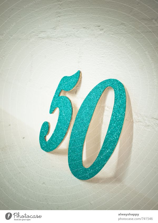 50 and not a bit quiet Luxury Happy Party Feasts & Celebrations Wedding Birthday Jubilee Stone Digits and numbers Old Happiness Gray Green Turquoise White