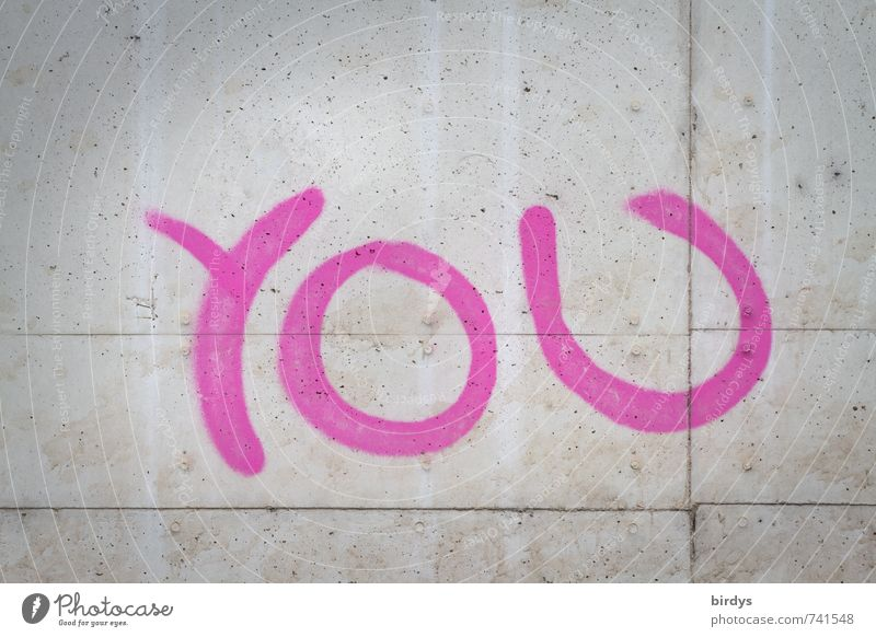 Human being Graffiti Emotions Gray Pink Fresh Signs and labeling Characters Esthetic Simple Round Longing Hip & trendy Relationship Positive Interest